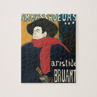 Ambassadeurs: Artistide Bruant por Toulouse Rompecabeza
