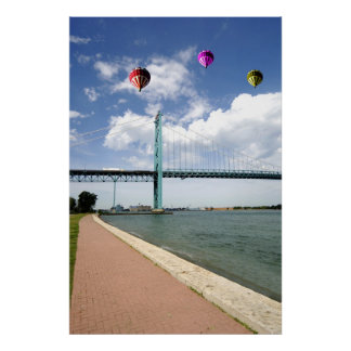 Ambassador Bridge Detroit Michigan Poster Print