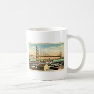 Ambassador Bridge Detroit, Michigan Vintage Coffee Mug