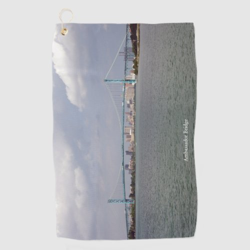 Ambassador Bridge golf towel