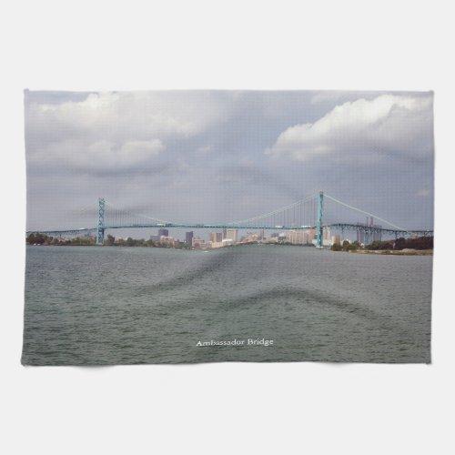 Ambassador Bridge kitchen towel