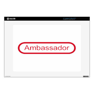 "Ambassador Decal For 15"" Laptop"