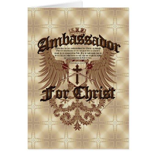 Ambassador For Christ, Corinthians Bible Verse Card