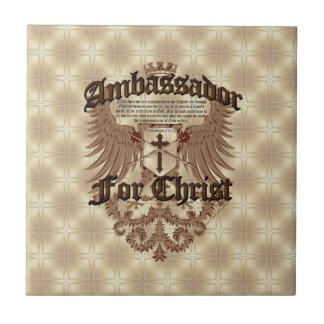 Ambassador For Christ, Corinthians Bible Verse Ceramic Tile