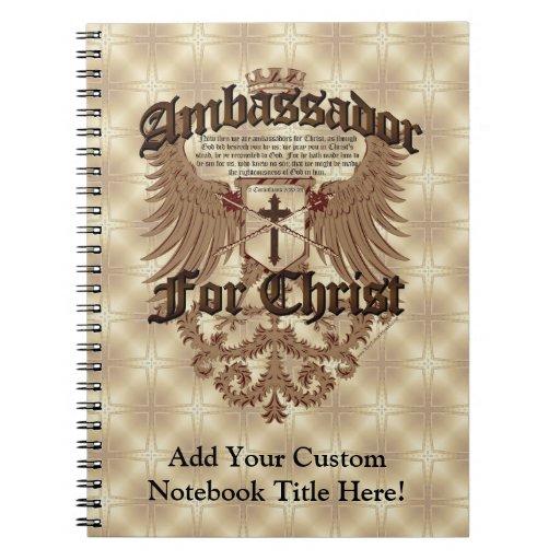 Ambassador For Christ, Corinthians Bible Verse Notebook