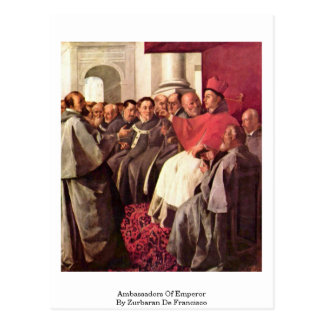 Ambassadors Of Emperor By Zurbaran De Francisco Postcard