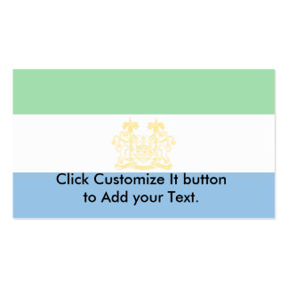 Ambassadors Of Sierra Leone, Serbia Double-Sided Standard Business Cards (Pack Of 100)