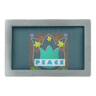 Ambassdor of PEACE Society Nations Artistic GIFTS Rectangular Belt Buckle