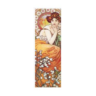 Amber Alphonse Mucha Art Gallery Wrapped Canvas