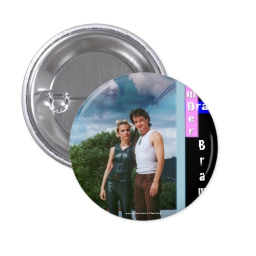 Amber and Bray Bramber 1 Inch Round Button