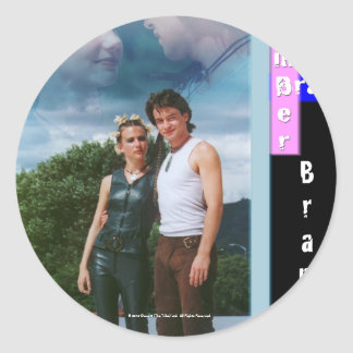 Amber and Bray Bramber Classic Round Sticker
