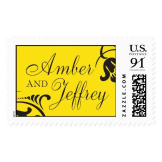 Amber and Jeffrey Monogram Postage