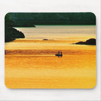 Amber Angling Mouse Pad