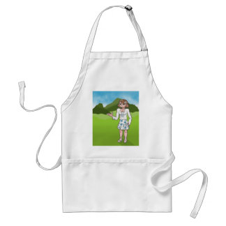 Amber, anime art gallery character adult apron