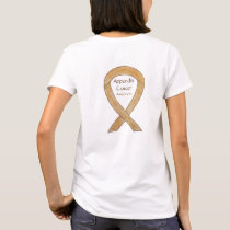Amber Appendix Cancer Awareness Ribbon Art Shirts