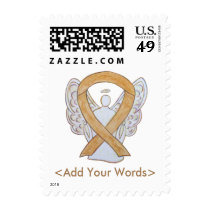Amber Awareness Ribbon Angel Custom Postage Stamps