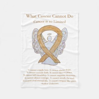 Amber Awareness Ribbon Appendix Cancer Blankets