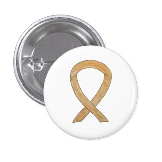 Amber Awareness Ribbon Appendix Cancer Pin Buttons