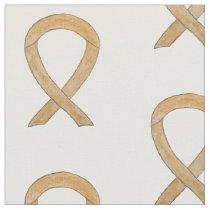 Amber Awareness Ribbon Art Appendix Cancer Fabric