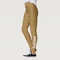 Amber Awareness Ribbon Art Custom Leggings