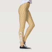 Amber Awareness Ribbon Custom Art Leggings