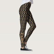 Amber Awareness Ribbon Custom Art Leggings