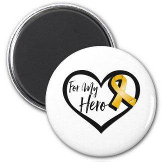 Amber Awareness Ribbon For My Hero 2 Inch Round Magnet
