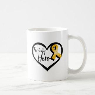 Amber Awareness Ribbon For My Hero Coffee Mug