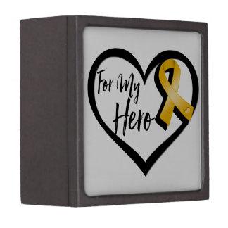Amber Awareness Ribbon For My Hero Keepsake Box