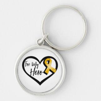 Amber Awareness Ribbon For My Hero Keychain