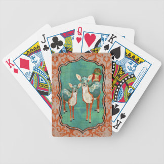 Amber & Azure Deer & Rose Owl  Card Deck