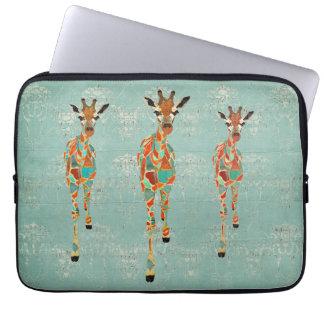 Amber & Azure Giraffes Computer Sleeve