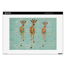 Amber & Azure Giraffes Laptop Skin