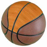 Amber Bamboo Wood Grain Look Basketball