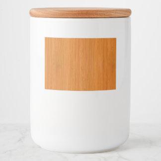 Amber Bamboo Wood Grain Look Food Label