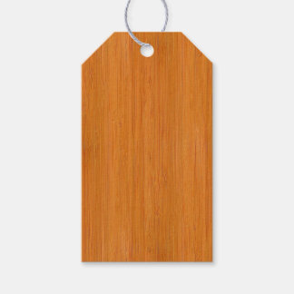 Amber Bamboo Wood Grain Look Gift Tags