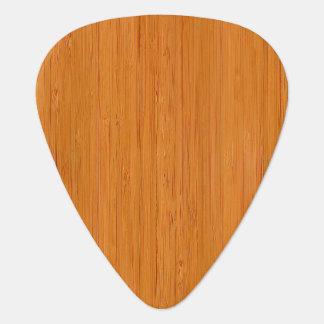 Amber Bamboo Wood Grain Look Guitar Pick