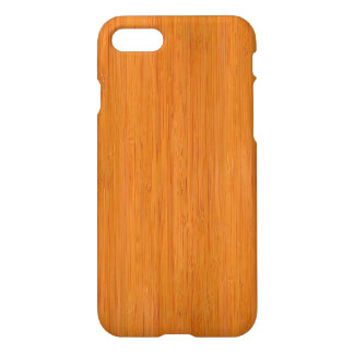 Amber Bamboo Wood Grain Look iPhone 7 Case