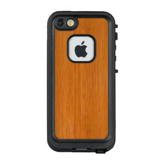 Amber Bamboo Wood Grain Look LifeProof® FRĒ® iPhone 5 Case