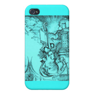 Amber Blond and Powder Blue i iPhone 4/4S Covers