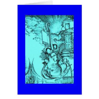 Amber Blue Greeting Card