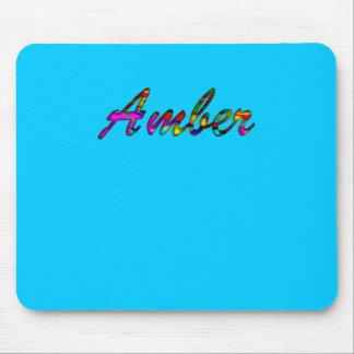 Amber blue mousepad mouse pad