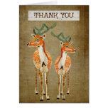 Amber Bucks Thank You  Card