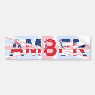 Amber Bumper Sticker