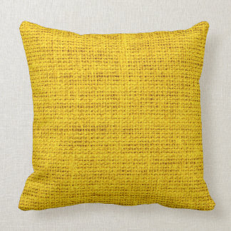 Amber burlap linen background #2 throw pillow