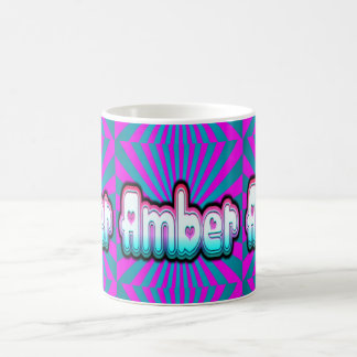 amber burst coffee mug