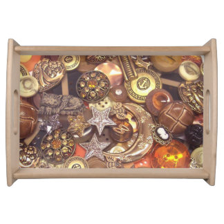 Amber Buttons Serving Tray