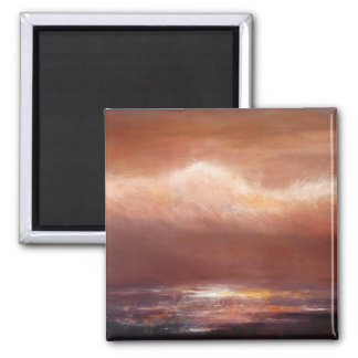 Amber Clouds Square Magnet