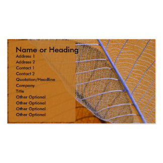 Amber Connections Double-Sided Standard Business Cards (Pack Of 100)