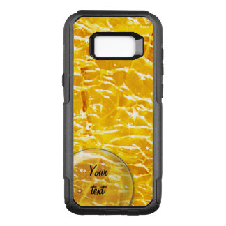 Amber crackled glass photo OtterBox commuter samsung galaxy s8+ case